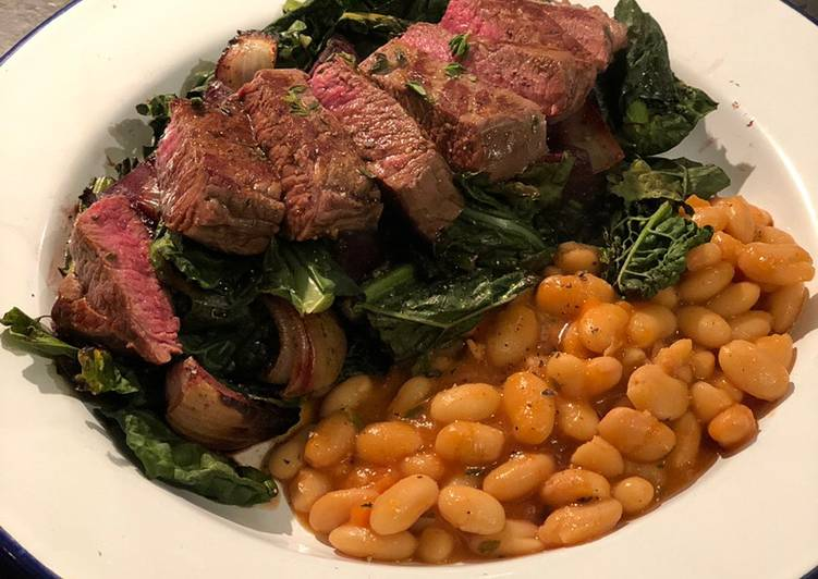How to Cook Perfect Venison with roast cavolo nero and beetroot. Stewed cannellini beans ????