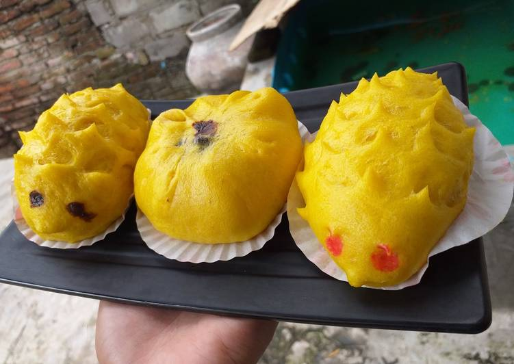 resep cara mengolah Bakpao Labu Kuning Lembut Awet Empuk