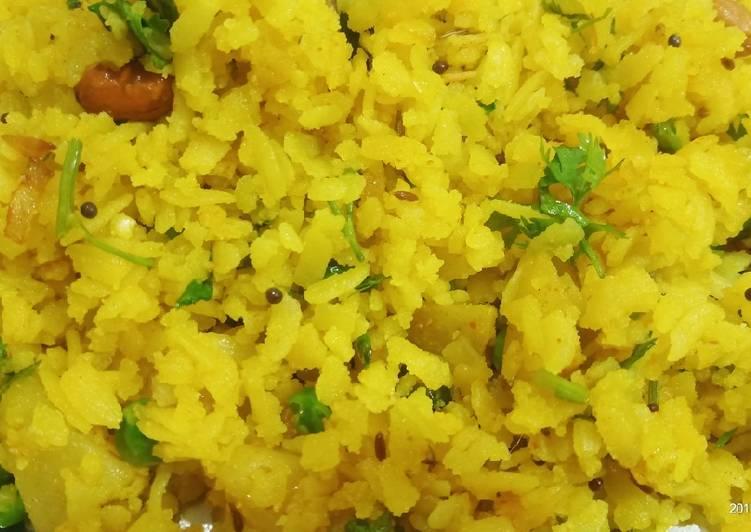 Indian Most Popular breakfast Poha Recipe