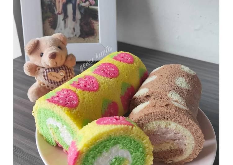 Japanese Roll Cake kukus