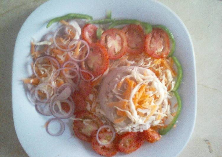 Recipe of Favorite Mashed potatoes,arrowroot and vegetable salad