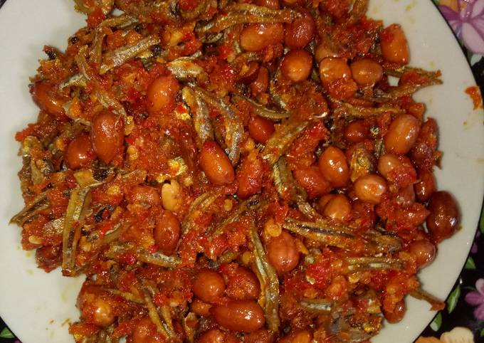 Resep Teri kacang balado Anti Gagal