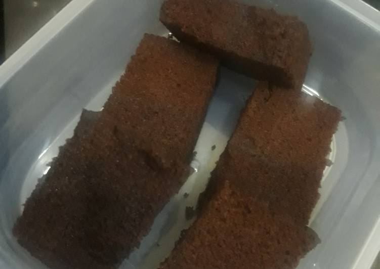 Bekal sekolah brownies oreo with bembeng drink