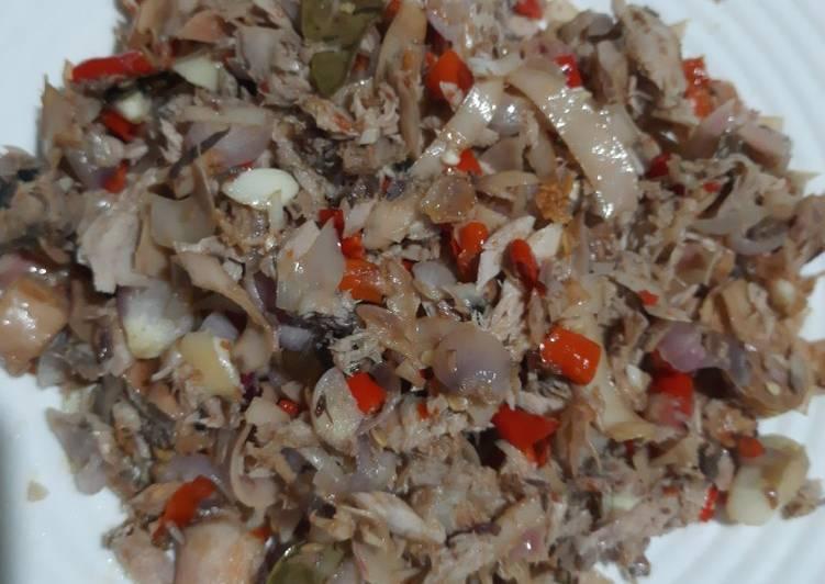 Ikan cakalang sambal kecombrang..terhot & terlejaat😋