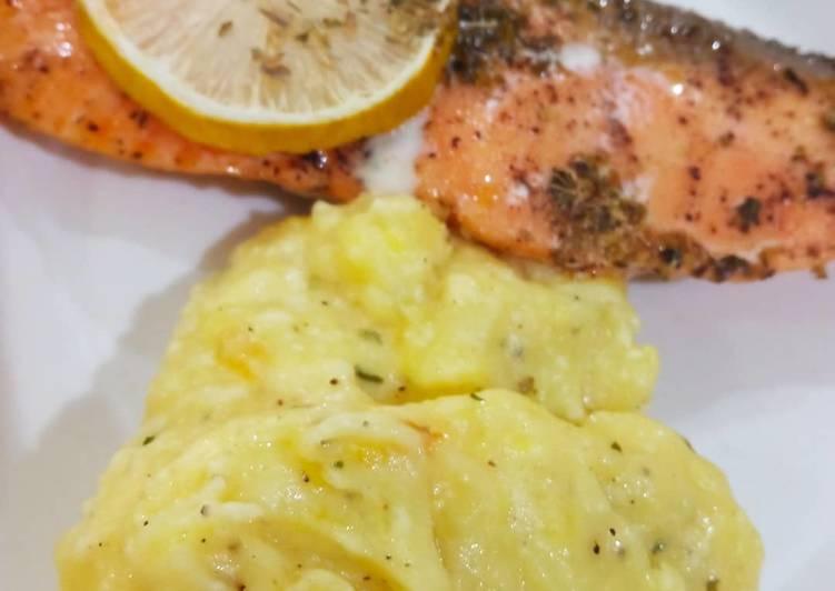 Baked Lemon Butter Salmon