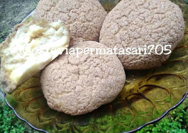 Mexican bun (roti boy) super lembut #beranibaking