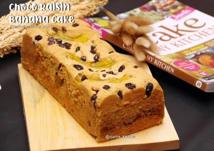 Choco Raisin Banana Cake Uenak