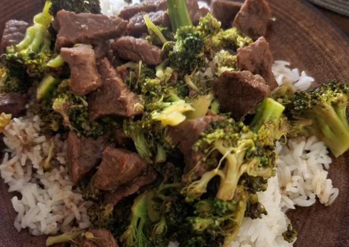 Ninja Beef, brocolli and rice