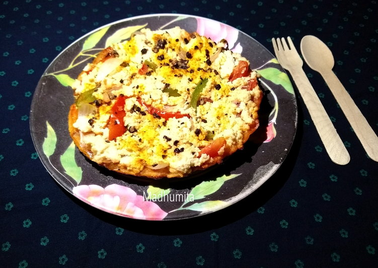 Oats Pizza Crust with toppings