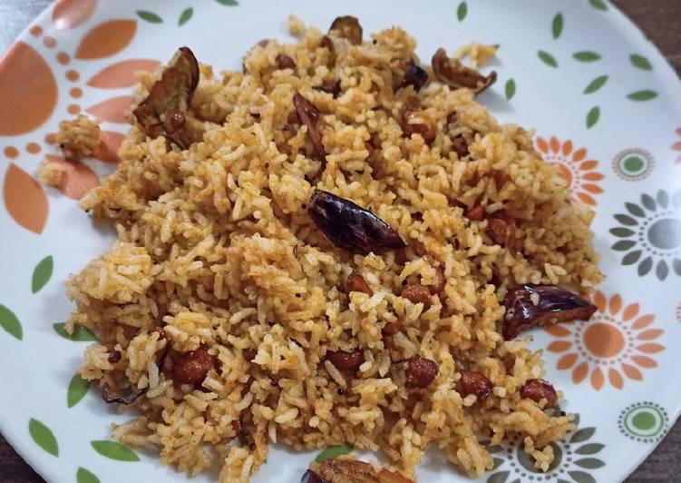 Simple Way to Prepare Homemade Vangi Bath (Brinjal fried rice)