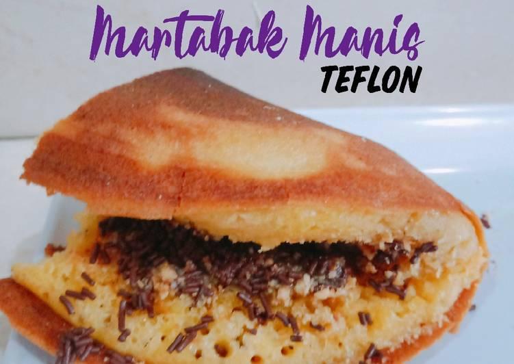 Martabak Manis Teflon kenyal & lembut ~ Resep 2