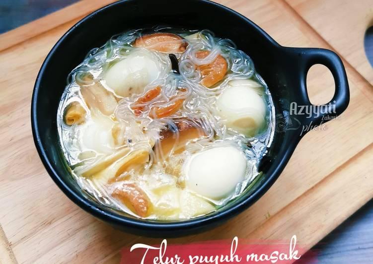 Telur puyuh masak soohoon #maratonraya #telurpuyuh - velavinkabakery.com
