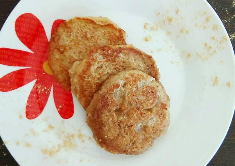Tortitas de 🍎manzana, avena y jengibre BLW 🐭🎈