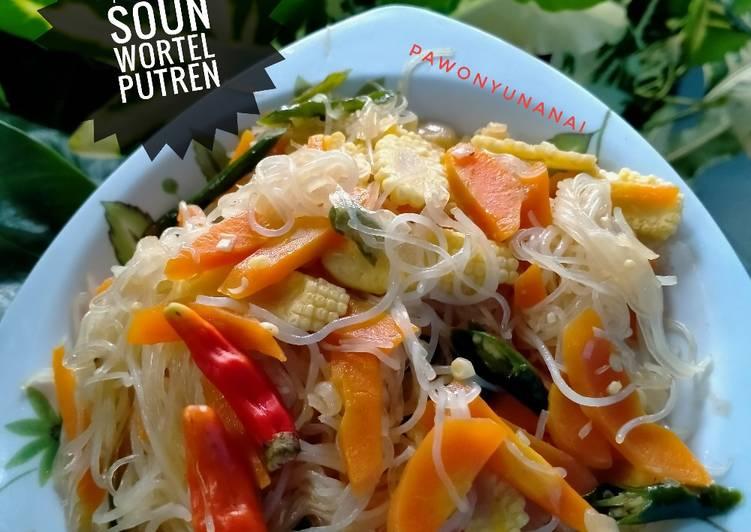 85) tumis soun wortel putren