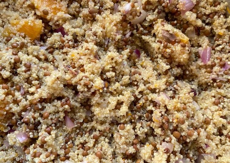 Salade de quinoa au lentille et feta 🧀
