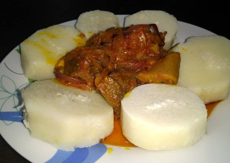 Step-by-Step Guide to Prepare Any-night-of-the-week Boiled yam and snail n assorted gravy