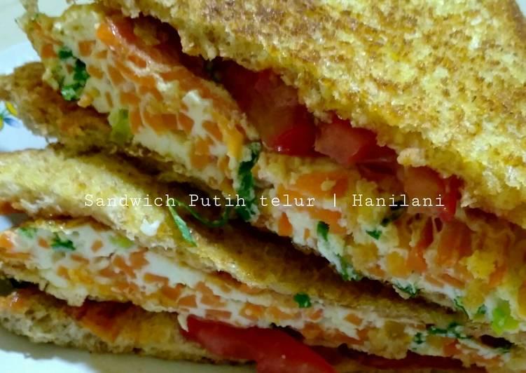 Sandwich roti gandum telur putih   healty