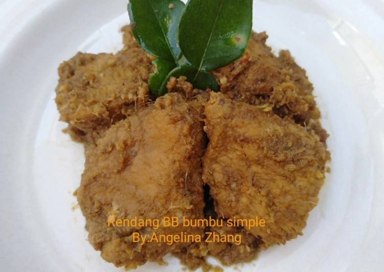 Rendang Daging Bumbu Simple