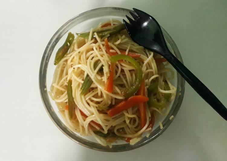 Stir fried veg noodles