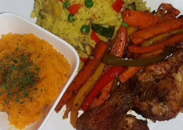 Recipe of Favorite Fried Rice, Chicken with butternut sauce