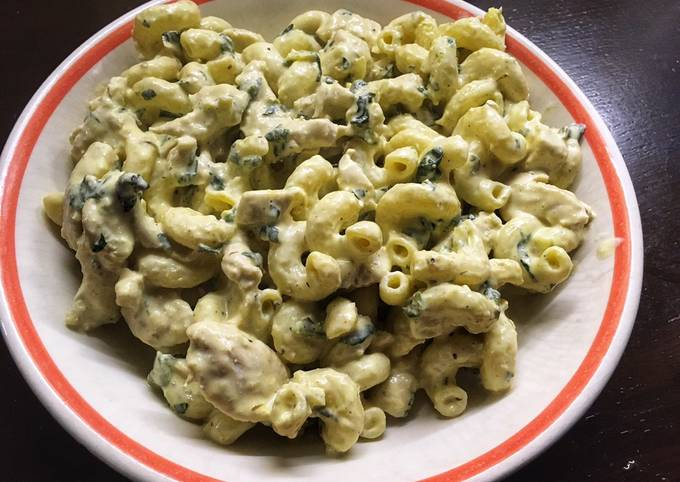 Chicken spinach pasta #cookwithcookpad