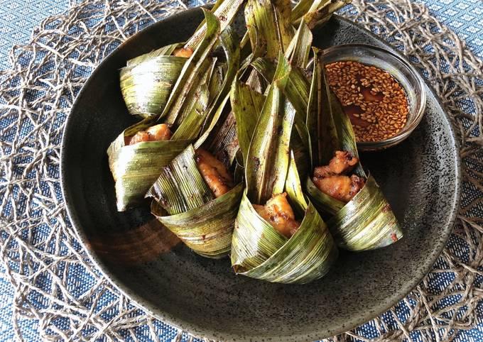 🧑🏽🍳🧑🏼🍳Thai Pandan Chicken Recipe • How To Wrap Pandan Chicken •Super Easy • Gai Hor Bai Toey