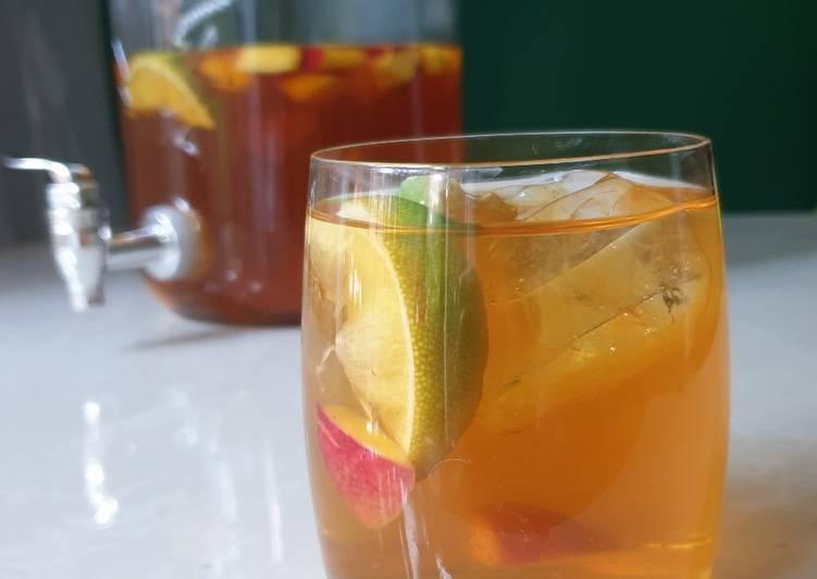 Easiest Way to Make Super Quick Homemade Green tea and Rooibos Ice Tea