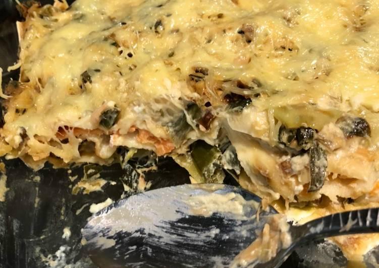 Recette Appétissante Lasagnes saumon poireaux