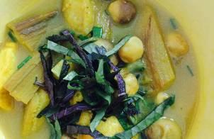 Chuối đậu chay (kiểu nấu Ốc chuối đậu)