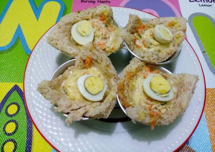 Resep Sandwich Kukus (menu batita 1y+) Paling Gampang