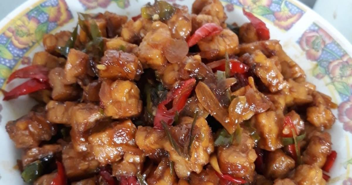 Resep Tumis Tempe Pedas Manis Oleh Anysyah92 Cookpad