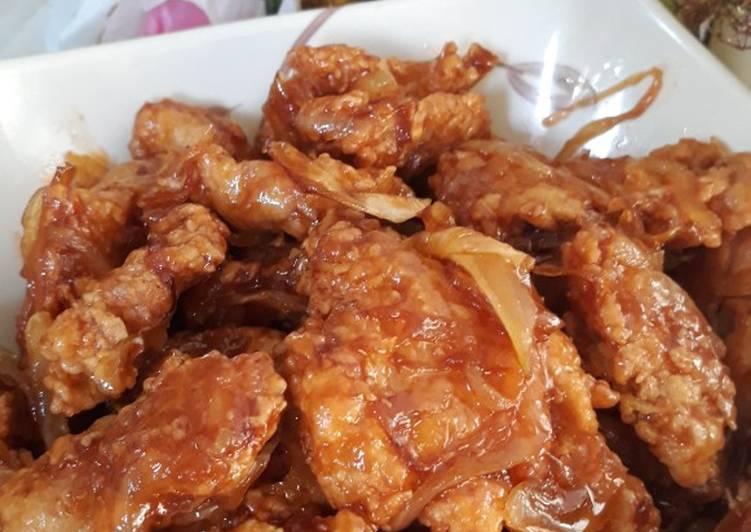 Ayam krispi saus asam manis