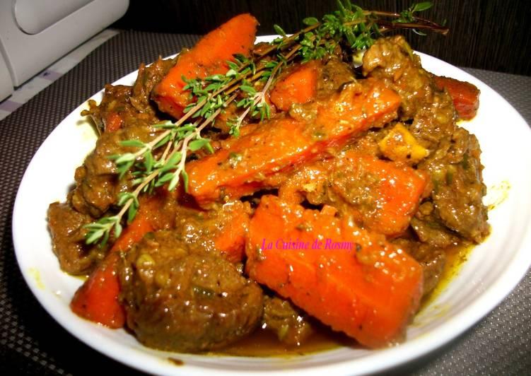 Carry bœuf carotte