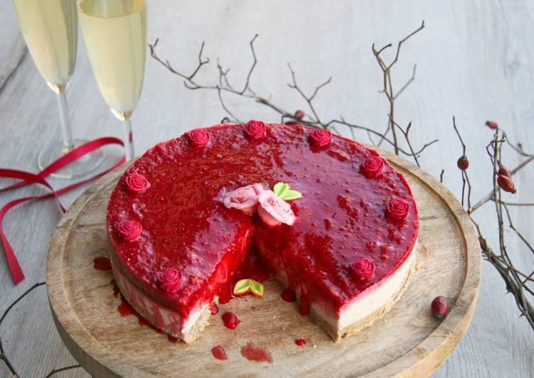 No-cheese cake à la noix de coco et framboise