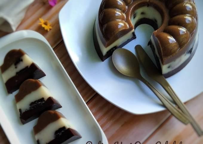 Resep 286. Puding Kopi Oreo Cokelat, Lezat
