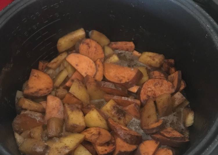 Sweet potato and peach slow cooker desert or pie filling