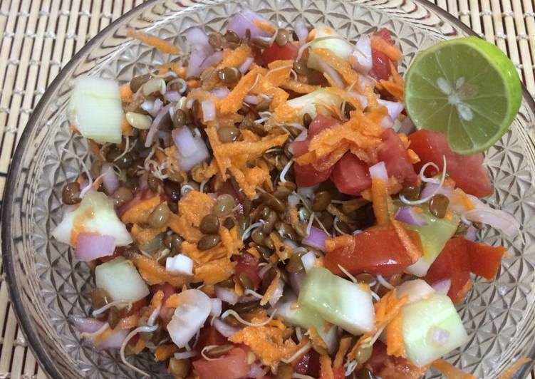 Try Using Food to Improve Your Mood Sprouts salad of horse gram and veggies for weight loss
