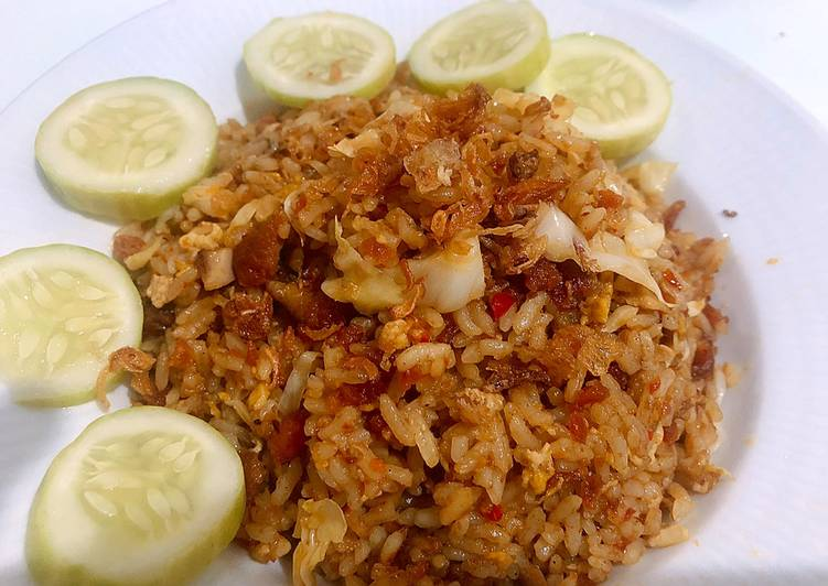 Resep Nasi goreng kampung ala resto Bikin Ngiler