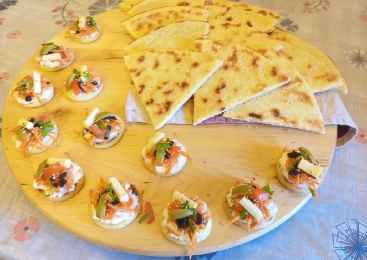 Kesra et mini kesra en apéro# recette rapide et facile