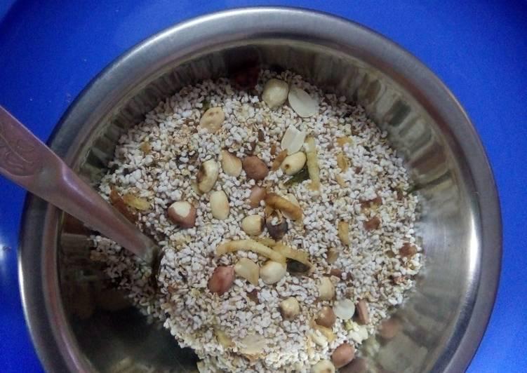 Recipe of Quick Upvas Rajgira chivda/upma