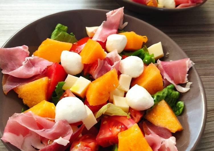 Petite salade fraîcheur sucrée / salée