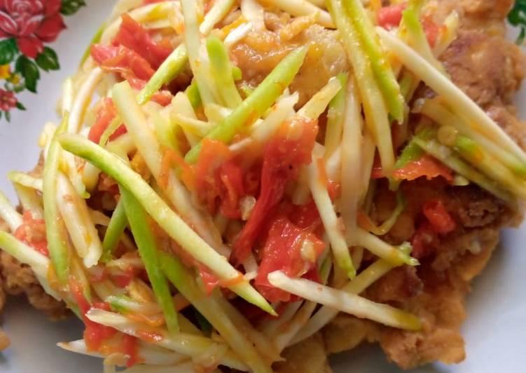 Cumi krispy sambal mangga muda