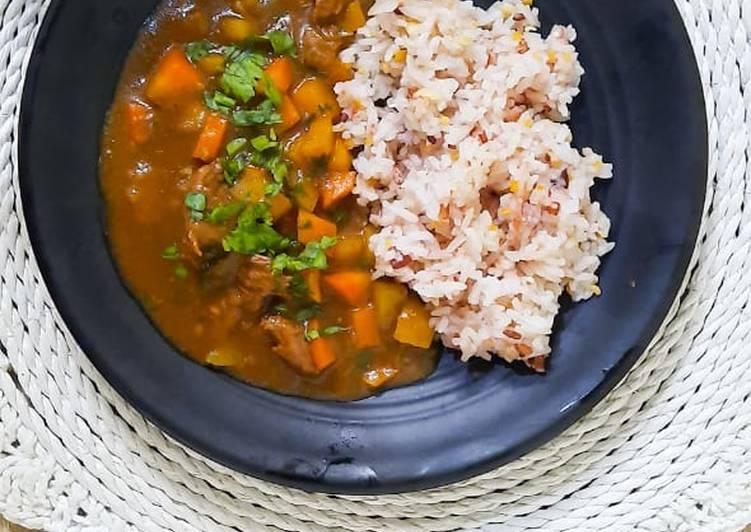 Japanese beef curry (kari jepang)