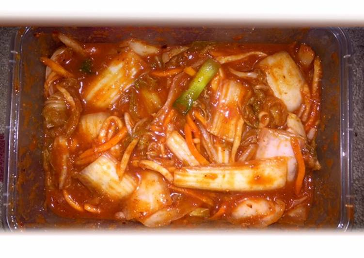 Resep 배추 김치 | Napa Cabbage Kimchi rumahan
