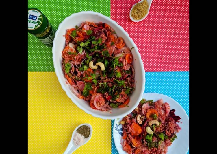 Pink Quinoa salad
