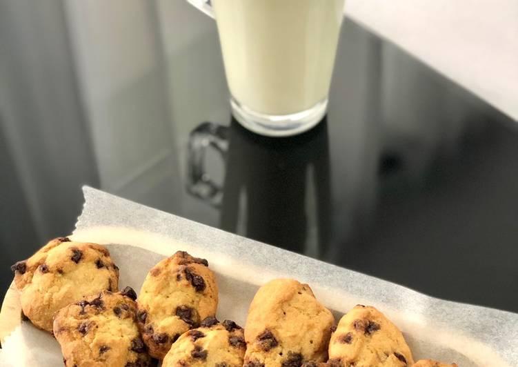 La Meilleur Recette De Biscuits aux pépites de chocolat