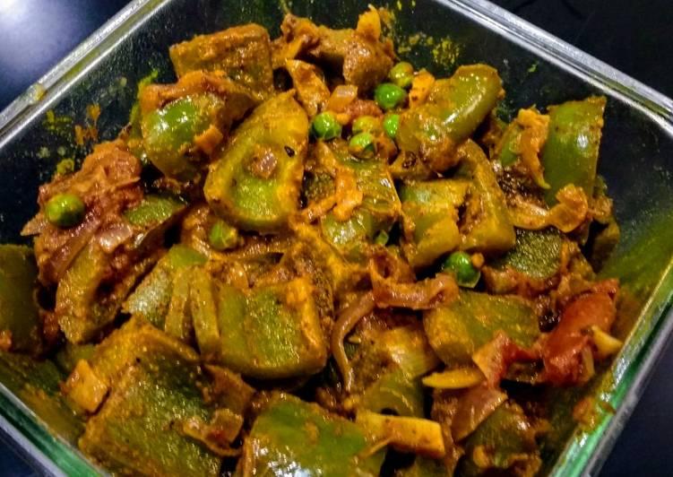 5 Minute Recipe of Blends Capsicum (Shimla mirch) Besara….Tastes like Pickle