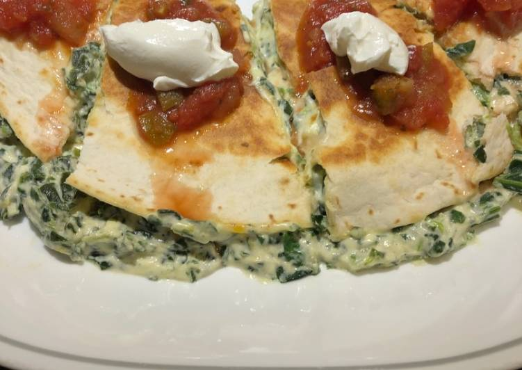 Creamy Spinach Quesadillas