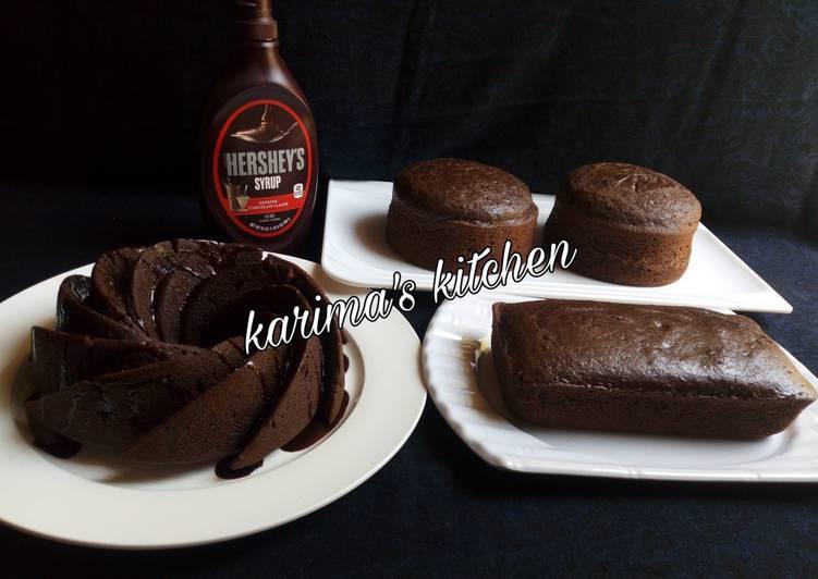 Condensed chocolate cake