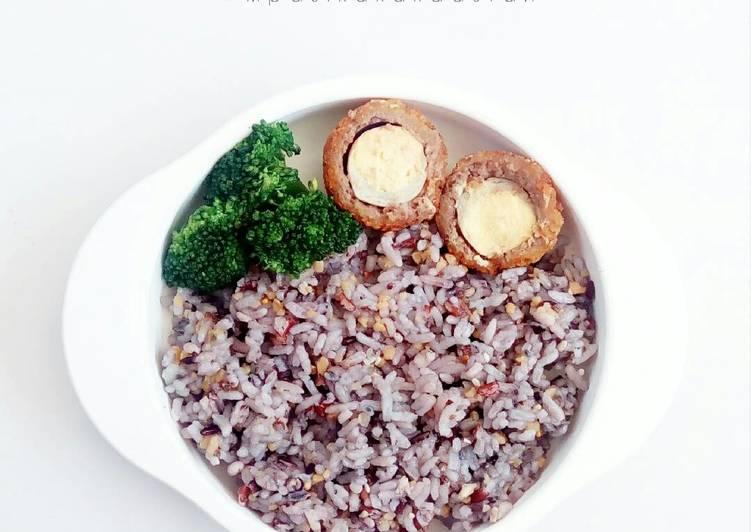 Kongbap with Beef Scotch Egg - MPASI